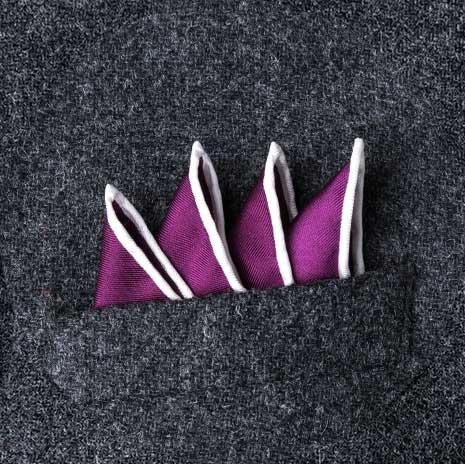 پوشت (دستمال جیب کت) مدل قله های مورب