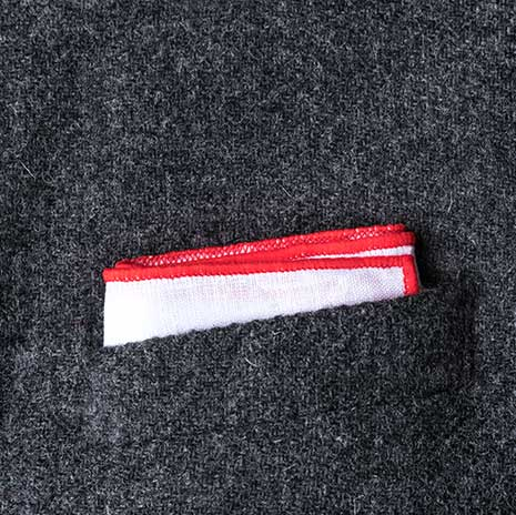پوشت (دستمال جیب کت) مدل کلاسیک