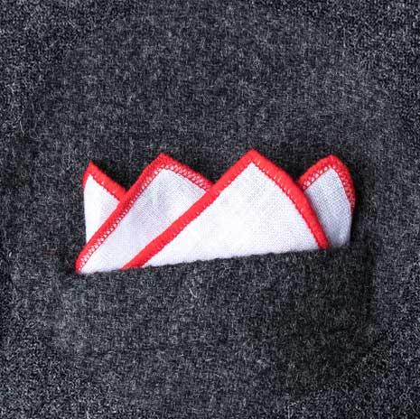 پوشت (دستمال جیب کت) مدل چهار قله