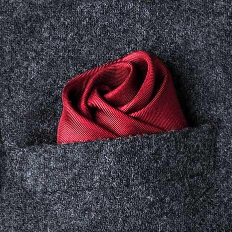 پوشت (دستمال جیب کت) مدل گل رز