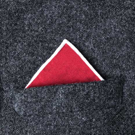 پوشت (دستمال جیب کت) مدل تک قله