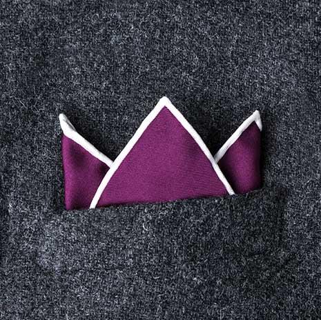 پوشت (دستمال جیب کت) مدل سه قله