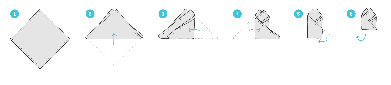 تا زدن پوشت به روش دو قله