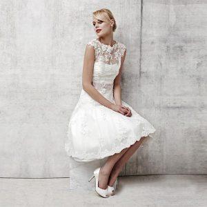 لباس عروس کوتاه بدون آستین