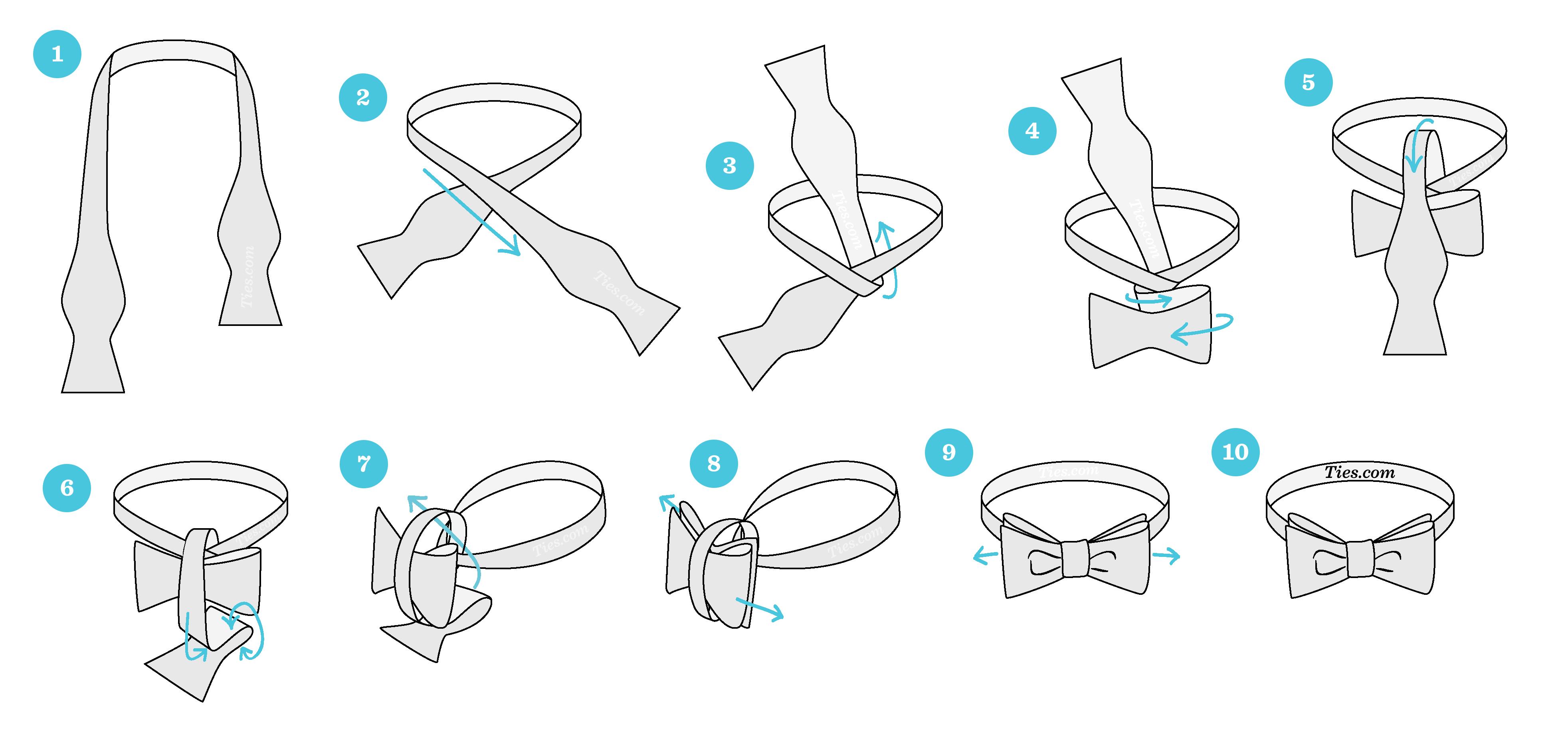 مراحل بستن پاپیون مردانه