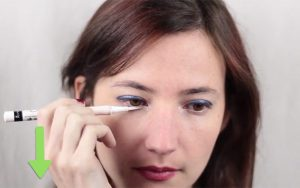 کشیدن خط چشم سفید