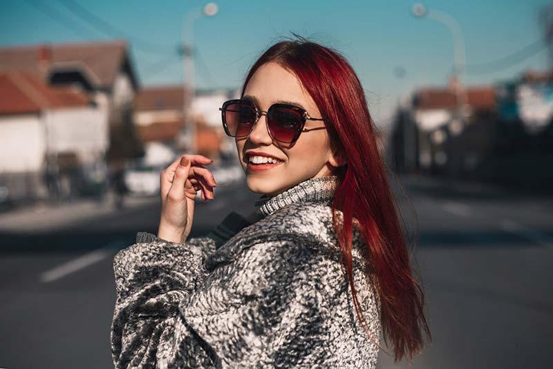 عینک آفتابی بزرگ برای صورت های کشیده