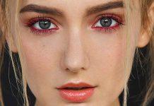 آموزش کشیدن خط چشم رنگی