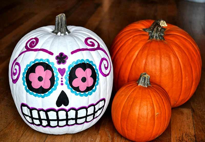 نقاشی روی کدوتنبل برای هالووین