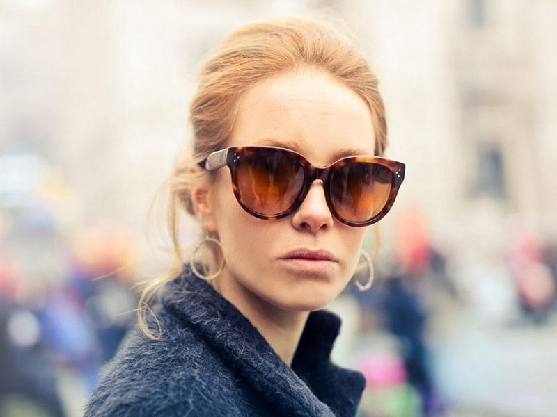 عینک آفتابی قهوه ای