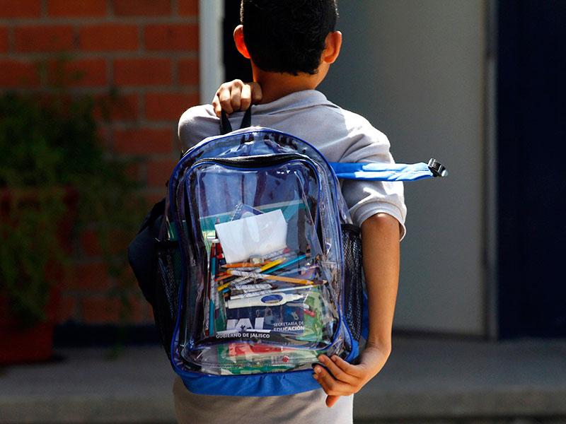 کوله پشتی مدرسه پسرانه شفاف