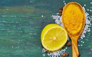 زردچوبه و لیمو