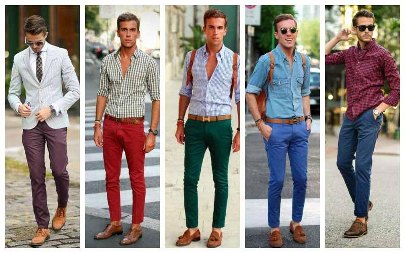 رنگ های مختلف شلوار کتان