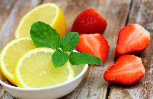 توت فرنگی و لیمو