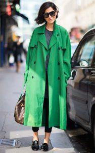 بارانی زنانه سبز
