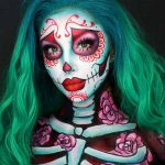 گریم اسکلتی برای هالووین