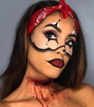 گریم جوکر برای هالووین