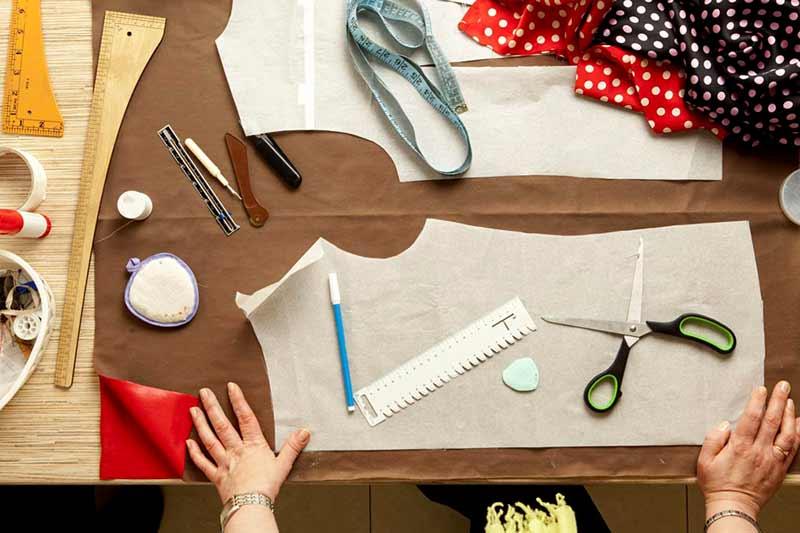 درست کردن الگوی لباس