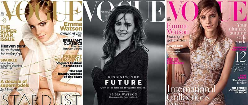 تصویر اما واتسون در جلد مجله ووگ