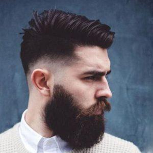 مدل موی بغل خالی با ریش مردانه بلند