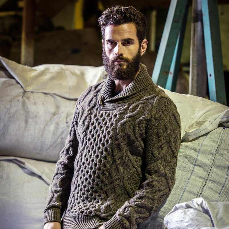 پلیور مردانه مدل یقه آرشال