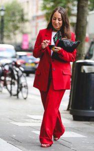 کت و شلوار زنانه قرمز