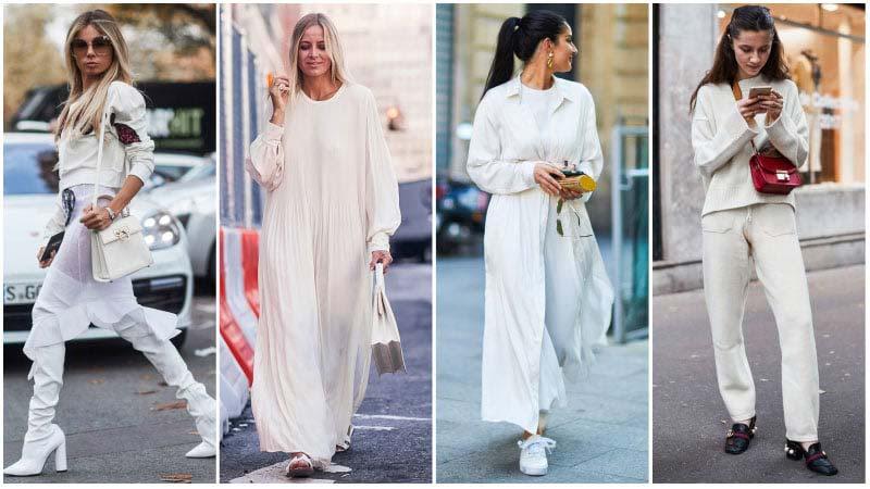 استایل راحت با لباس های سفید