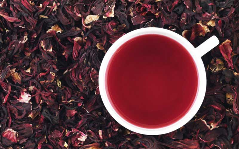 دمنوش چای ترش قرمز