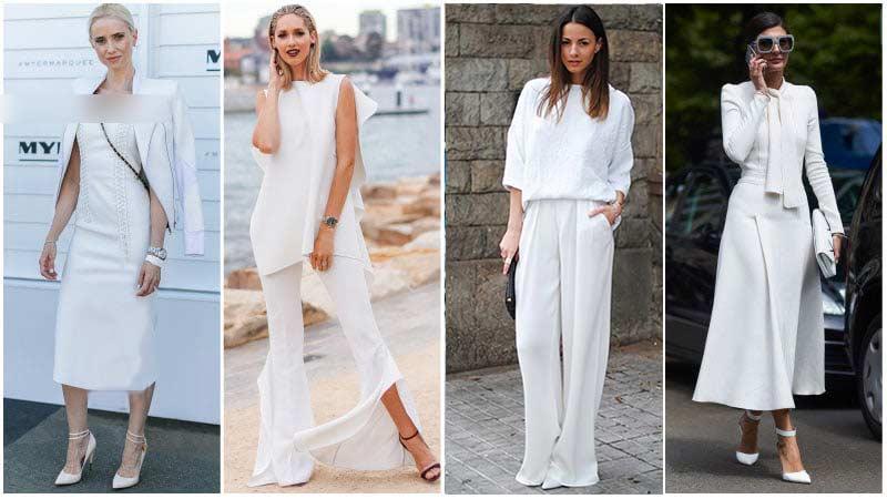 استایل رسمی با لباس سفید