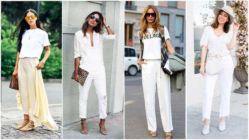 استایل تابستانی زنانه سفید