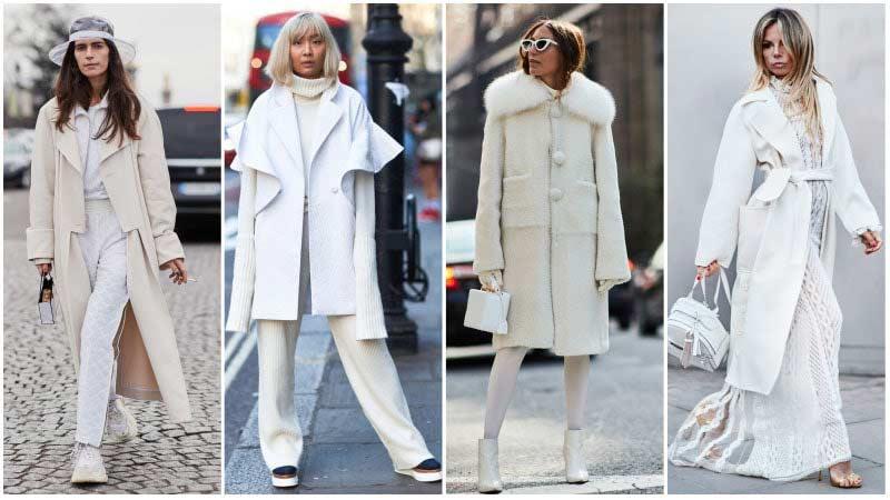 استایل زنانه سفید زمستانی