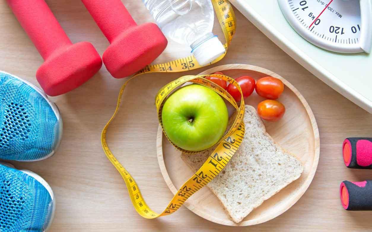 رژیم غذایی سیب و دمبل