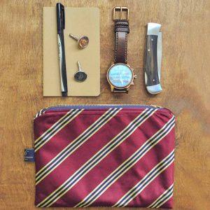 یک کیف کوچک مردانه و وسایل مورد نیاز آقایان