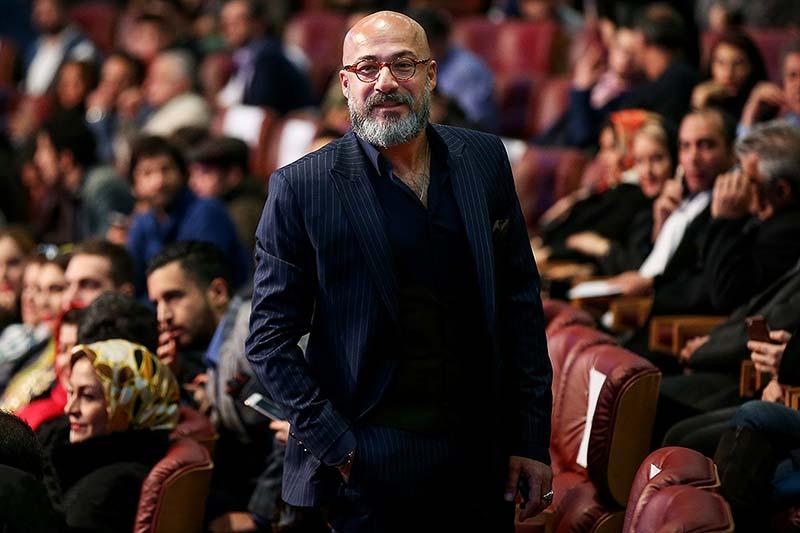استایل مشکی امیر آقایی در جشنواره فیلم فجر