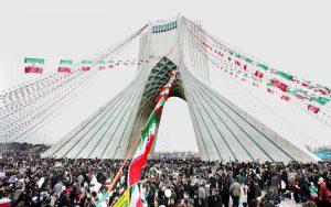 برج آزادی در روز 22 بهمن