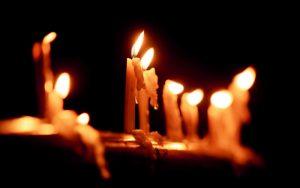 سوختن شمع عزاداری