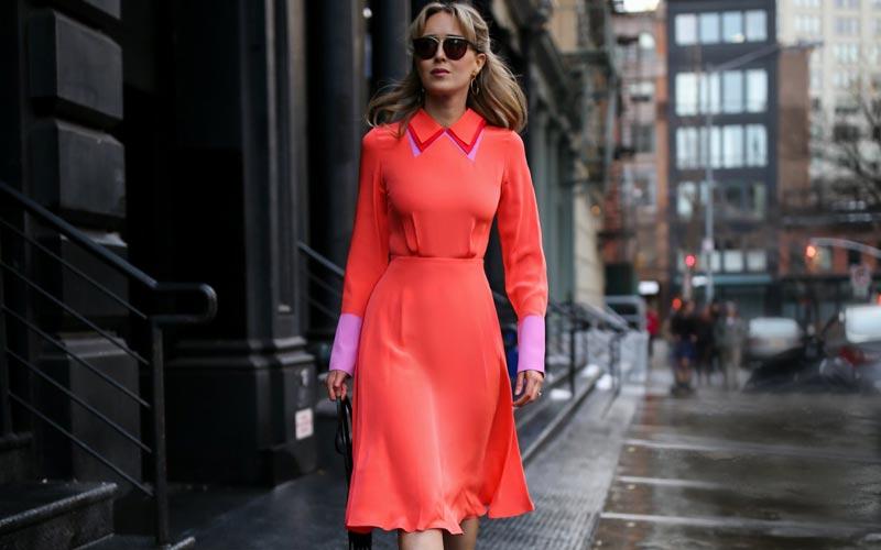 لباس مرجانی رنگ
