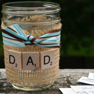 ظرف شکلات و نوشته برای روز پدر