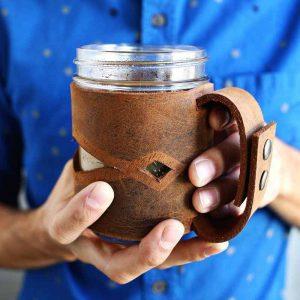 لباس دست ساز چرمی برای لیوان