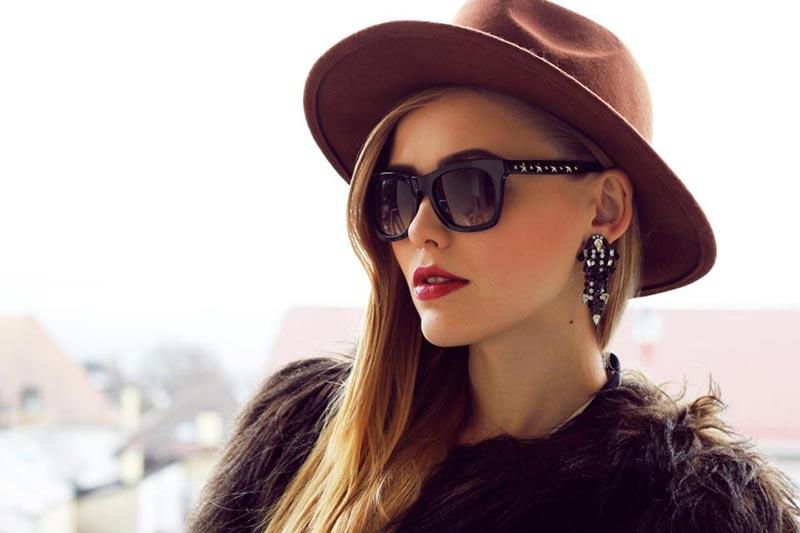 عینک آفتابی تابستانی با کلاه