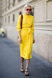 استایل تابستانی با رنگ زرد