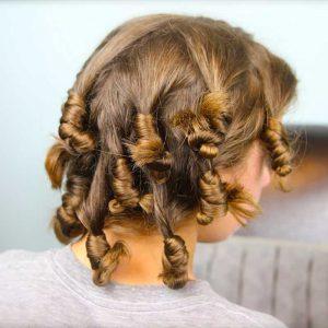 روش فر کردن مو با جوراب