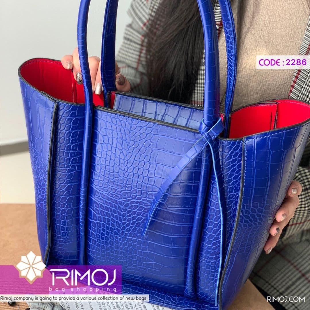 کیف دستی آبی کاربنی
