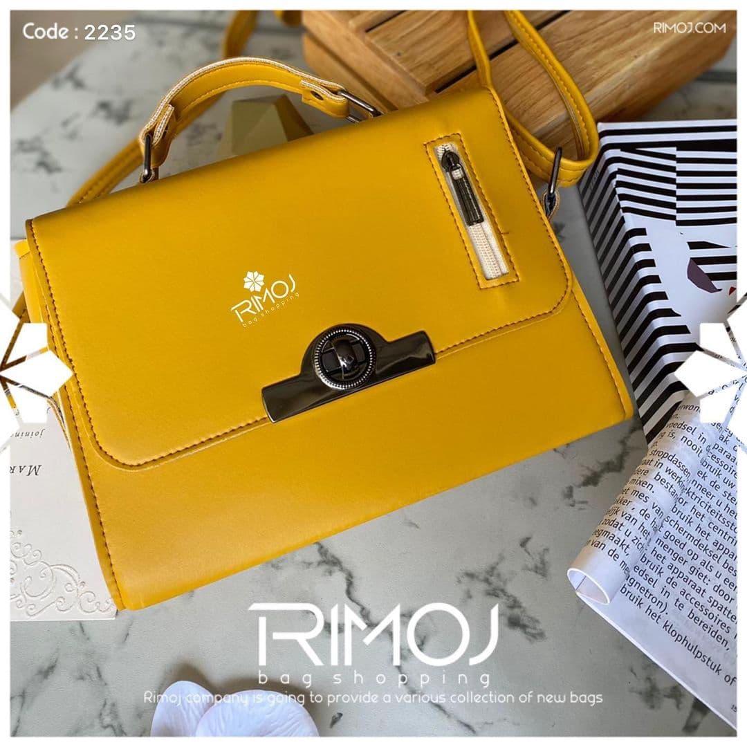 کیف دوشی زرد