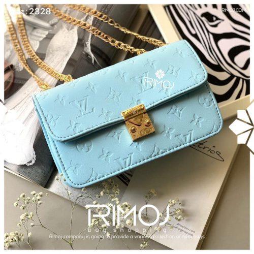 کیف دوشی آبی اسمانی