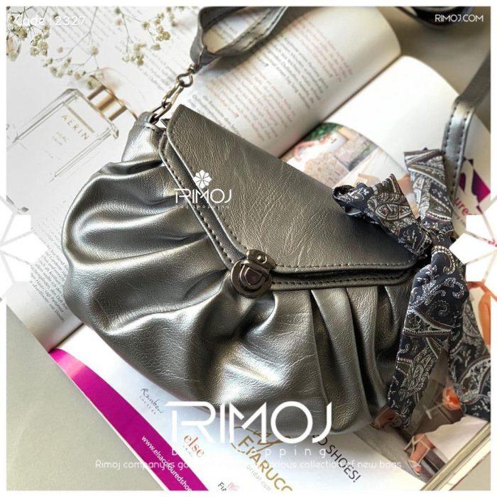 کیف دوشی نقره ای